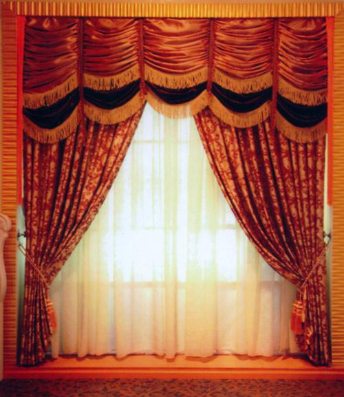 欧式窗帘-窗帘布艺-名纱纺窗帘布艺