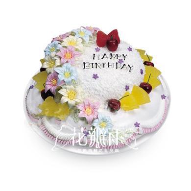 以春天为主蛋糕盘手工制作图片