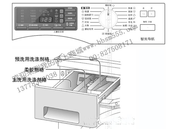 松下洗衣机排水结构图