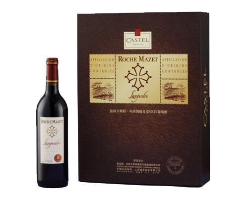 红葡萄酒 卡斯特·玛茜波尔多aoc珍藏橡木桶红葡萄酒